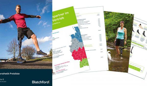 Neue Blatchford Preisliste: gültig ab 01. April 2021